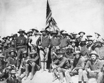 Colonel Theodore Roosevelt and Rough Riders on San Juan Hill - 8X10 or 11X14 Photo (CC734)