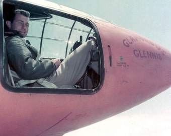 "Captain Chuck Yeager in the Bell X-1 Cockpit ""Glamorous Glennis"" - 5X7 or 8X10 Photo (AA-258)"