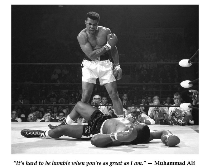 Muhammad Ali Famous Quote From A Boxing Legend - 8X10 or 11X14 Photo (PQ-005)