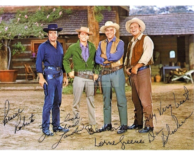 "Cast of the TV Show ""Bonanza"" with *Reprint* Autographs - 8X10 Publicity Photo (FB-511)"