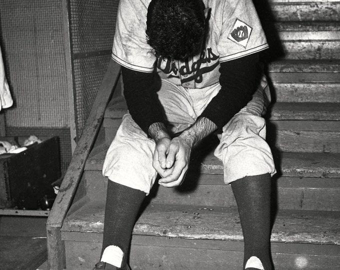 "Brooklyn Dodgers Pitcher Ralph Branca After Giving Up Thomson Homerun ""Shot Heard 'Round The World"" - 5X7 or 8X10 Photo (AZ190)"