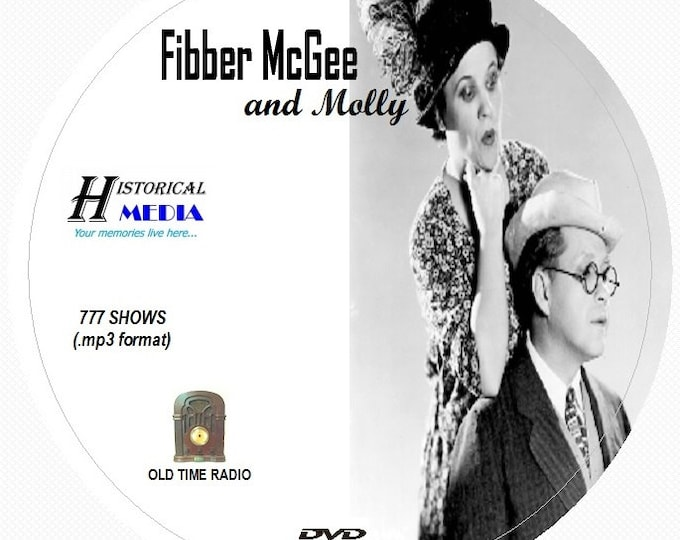 Fibber McGee and Molly - 777 Shows of Old Time Radio in MP3 Format OTR on 1 DVD
