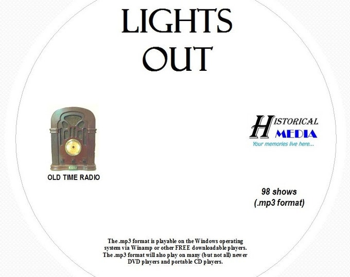Lights Out! - 98 Shows of Old Time Radio in MP3 Format OTR 1 CD