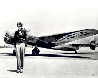 Legendary Pilot Amelia Earhart Stands in Front of Her Lockheed Elektra Aircraft - 8X10 or 11X14 Photo (EP-639) [LG-116]