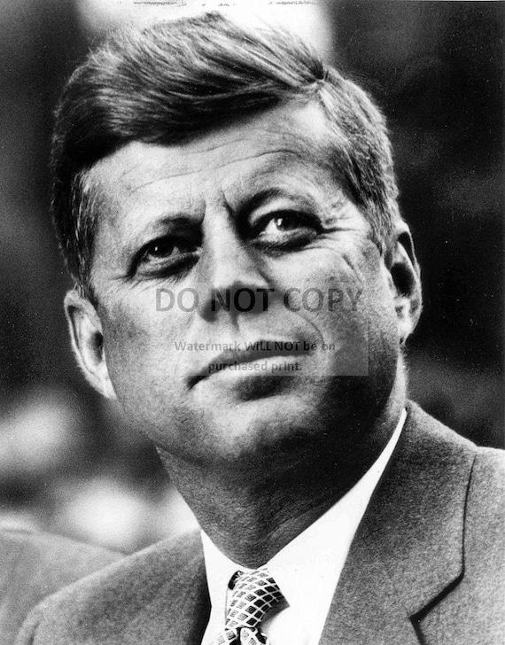 35TH U.S PRESIDENT JOHN F KENNEDY PORTRAIT 11X14 PHOTO