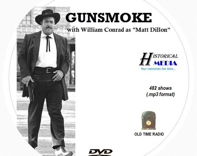 GUNSMOKE - 482 Shows of Old Time Radio In MP3 Format OTR On 1 DVD