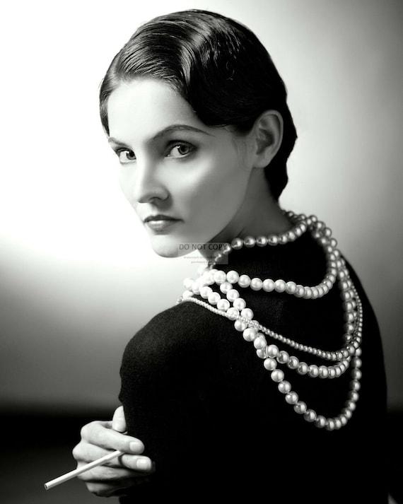 Coco Chanel French Fashion Designer 5x7 8x10 Or 11x14 Etsy