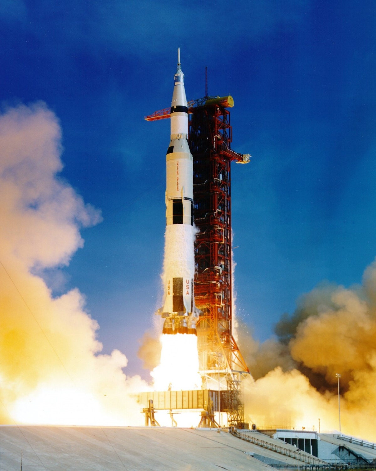 Lift-off of the Apollo 11 Saturn V From Launch Complex 39A ...