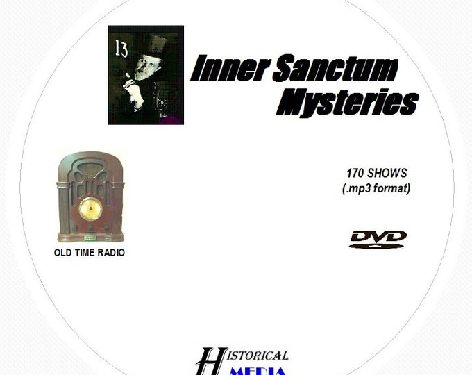 Inner Sanctum Mysteries - 170 Shows of Old Time Radio in MP3 Format OTR 1 DVD