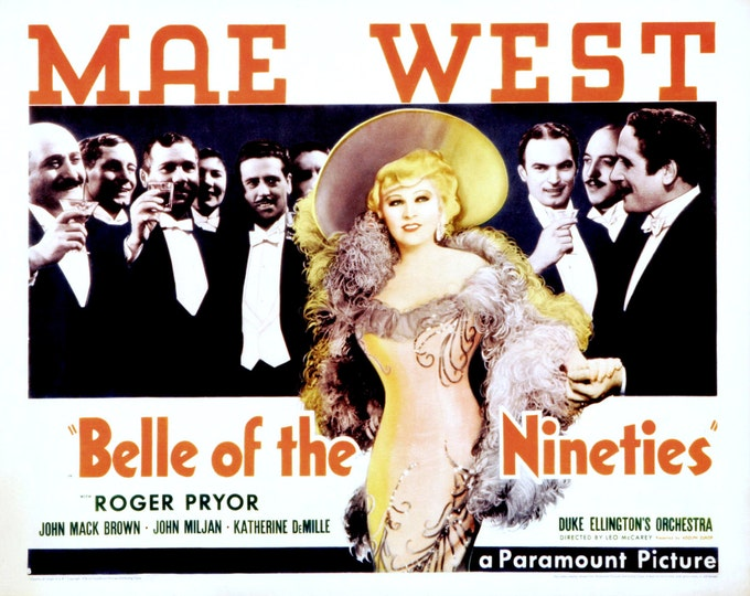 """Lobby Card From the Film """"Belle of the Nineties"""" Starring Mae West 90s (Reproduction) - 8X10 or 11X14 Photo (MP-006)"""