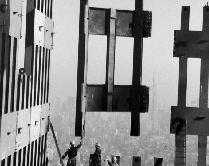 Construction Workers on the Top Floors of the World Trade Center - 8X10 or 11X14 Photo (FB-368)