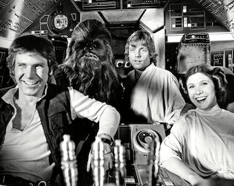 "Harrison Ford, Mark Hamill & Carrie Fisher in the Film ""Star Wars"" - 5X7, 8X10 or 11X14 Photo (ZZ-659)"