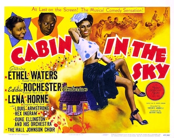 "Lobby Card From the Film ""Cabin in the Sky"" Starring Eddie ""Rochester"" Anderson and Lena Horne (Reproduction) - 8X10 or 11X14 Photo (MP-008)"