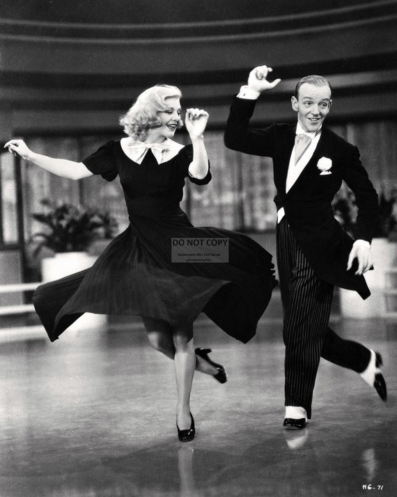Fred Astaire And Ginger Rogers In The Film Swing Etsy