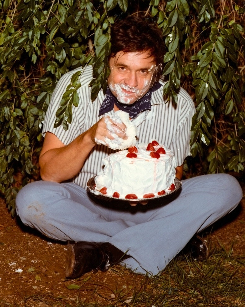 Johnny Cash Cake Photo for the Back Cover of the Strawberry Cake ...