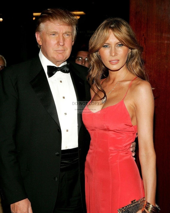 Donald And Melania Trump 5x7 8x10 Or 11x14 Photo Op 487 Etsy