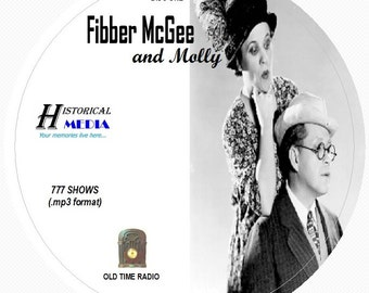 Fibber McGee and Molly - 777 Shows of Old Time Radio in MP3 Format OTR on 7 CDs