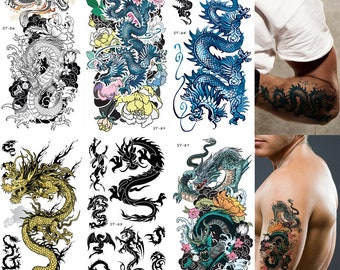 175f1ad8ec946 Supperb Mix Dragons Temporary Tattoo/6-pack (Traditional Set)