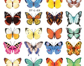 d3e1289f9 Supperb® Temporary Tattoos - 28 Small Butterflies Tattoo