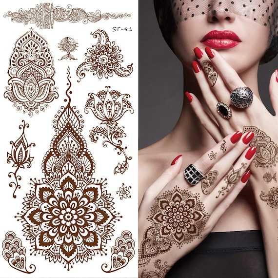 Where To Get Temporary Henna Tattoos Near Me: Supperb Temporary Tattoos Inspired Henna II