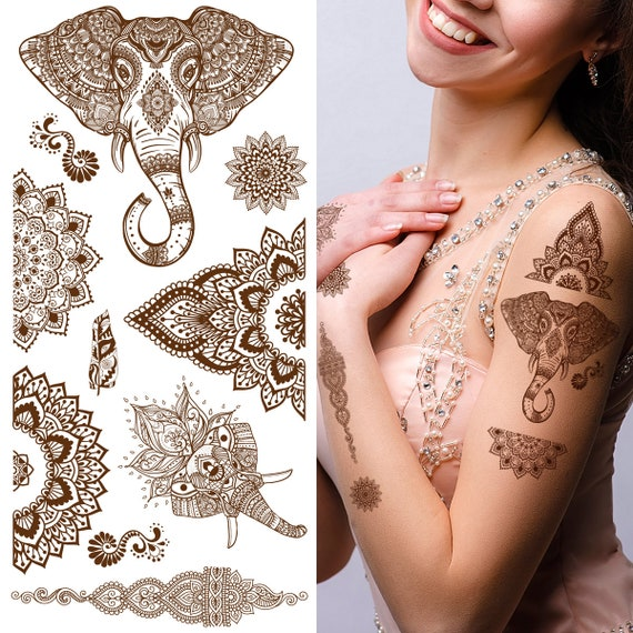 Supperb Temporare Tattoos Mandala Henna Heilung Yoga Etsy