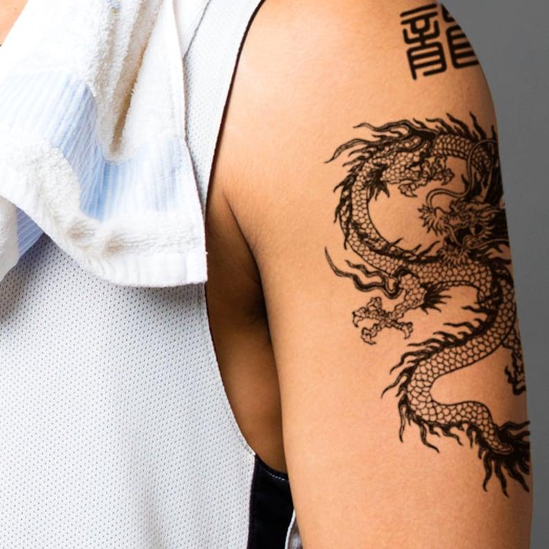 9. Dragon Temporary Tattoo