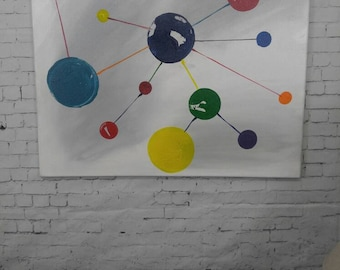 Network Original acrylic painting on canvas