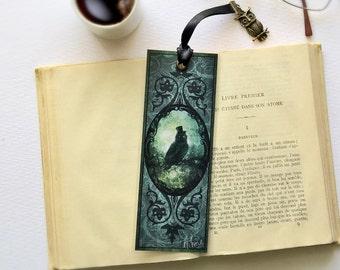 Bookmark OWL Sir - illustrated, laminated, handmade
