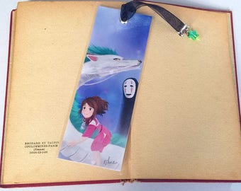 Ghibli bookmark: the journey of spirited away - illustrated, laminated, hand-made
