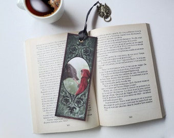Bookmark the Riding Hood and Wolf - illustrated, laminated, hand-made