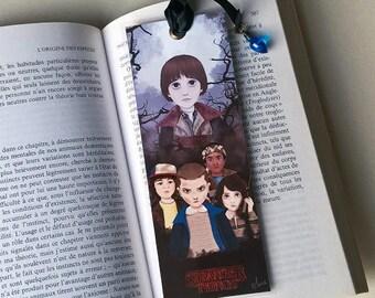 Bookmark Stranger Things - illustrated, laminated, handmade