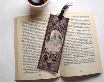 Bookmark Ylva witch - illustrated, laminated, handmade