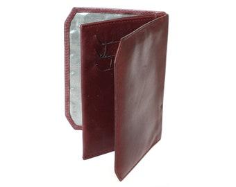 f9e5eef6b38 Vintage lederen visitekaartje houder, gepersonaliseerde visitekaartje  geval, aangepaste Business, kaarthouder, credit card portemonnee, Mano  kaarthouder