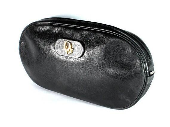 Vintage Leather Bag Dior, Christian Dior, Black Le