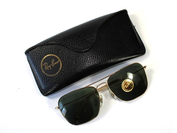 Ray Ban Glasses, Leather Case, Bausch And Lomb, Su