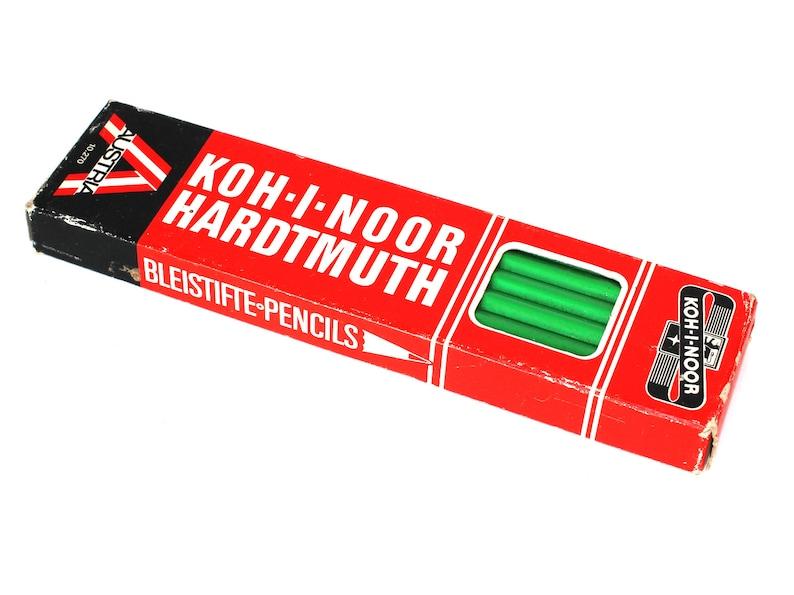 Retro Pencil Schulstift Pencil 12 Koh-I-Noor Pencil Green Color Pencil Hardtmuth Pencil Bleistifte Pencils Vintage Koh-I-Noor Pencil