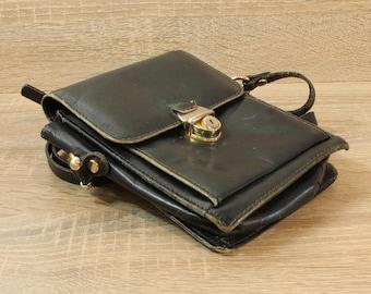 Dark Blue Leather Bag, Leather Handbag, Vintage Bag, Handmade Handbag, Cross Body Bag, Custom Leather Bag, Made In Italy, Asema Bag