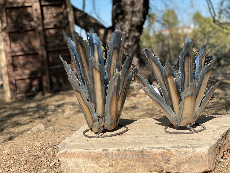 Steel Agave Arizona Landscape Art Desert Cactus Metal Yard ...