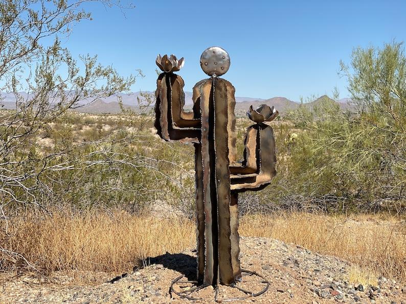 Rustic Saguaro Cactus Metal Yard Art Desert Cactus | Etsy
