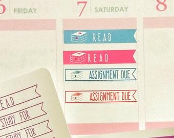 study planner stickers, student planner stickers, exam stickers, school planner stickers, college student planner stickers