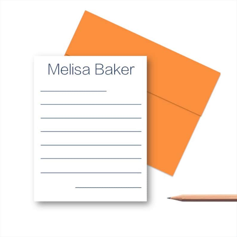 Personalized Thank You Note Cards Kids Personalized Stationery Lined Note Cards Personalized Stationery Set Note Cards for Kids