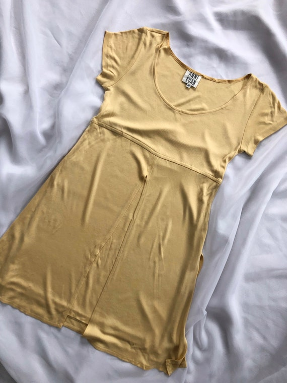 90s yellow spring dress size medium