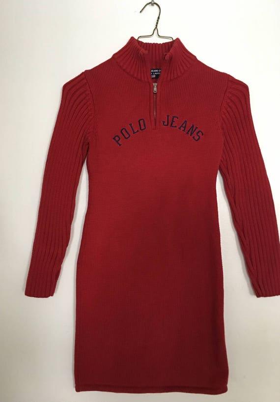90s Ralph Lauren Sweater Dress Vintage Ralph Laure