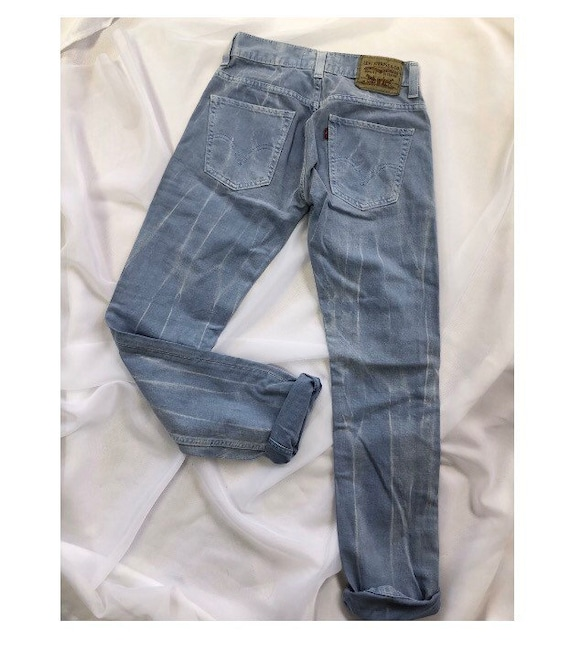 Bleached tye dye Levi's jeans