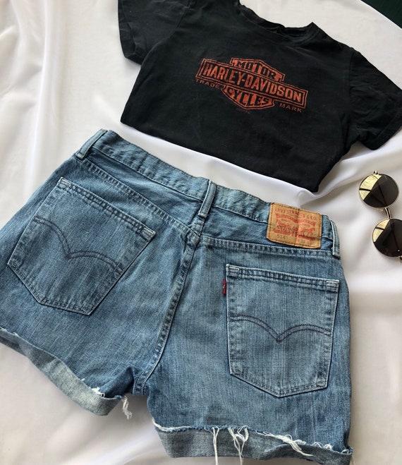 vintage levi shorts sizing