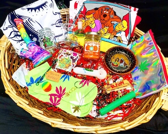 The Happy Birthday, Happy Stoner Themed Ultimate Mystery Gift Box Kit! 4 Size Options PLUS FREE SHIPPING!