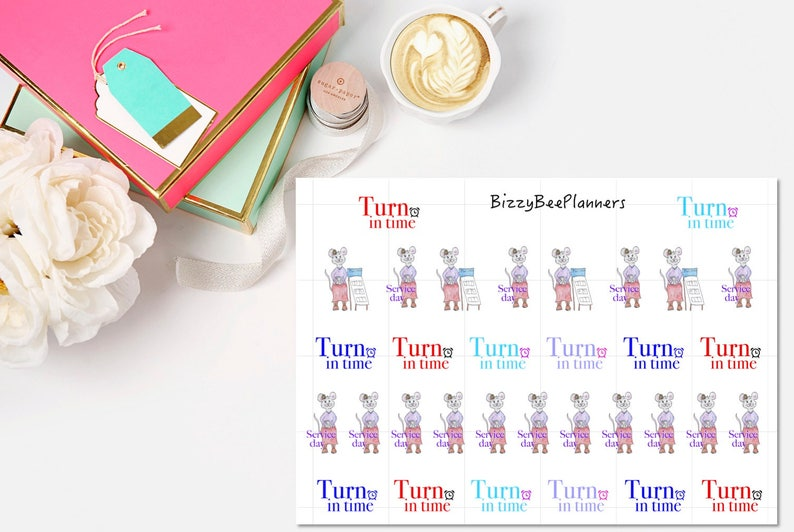 JW Planner Stickers-Turn in Time stickers