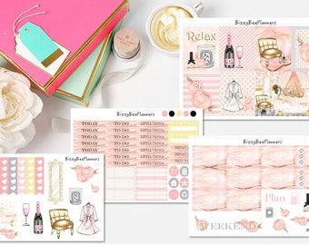 Relax Stickers, Erin Condren Planner Stickers, Kiss Cut Stickers, Weekly Kit Planner Stickers, Bath Time Stickers,Pink Stickers, Fashion Sti