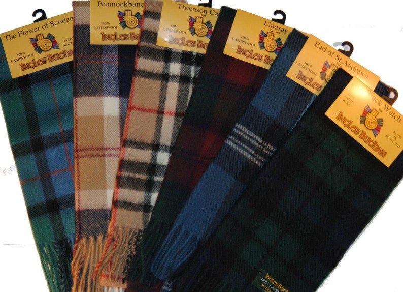 Boys Clan Tie All Wool Woven in Scotland Cornish National Tartan
