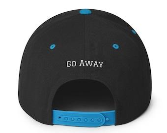 62c89dfd9cc46 Go Away Snapback Hat